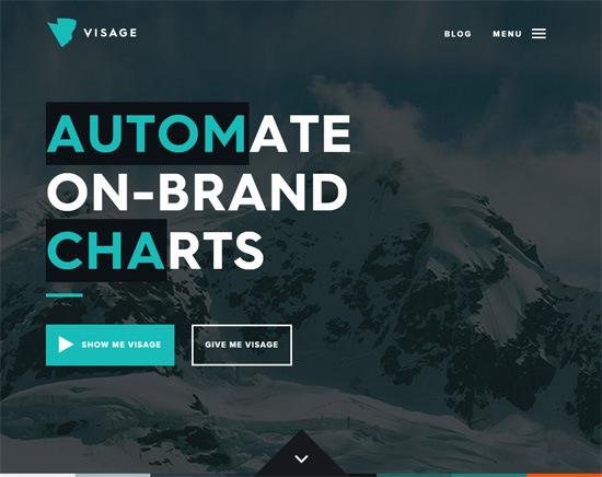 Web typography example: Visage