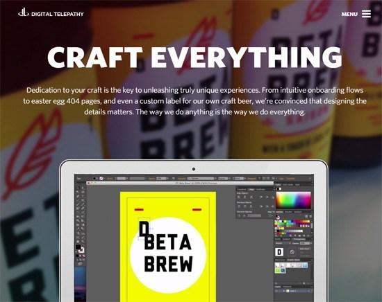 Web typography example: Digital Telepathy