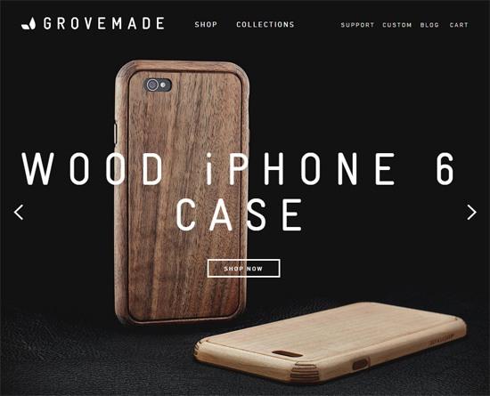 Web typography example: Grovemade