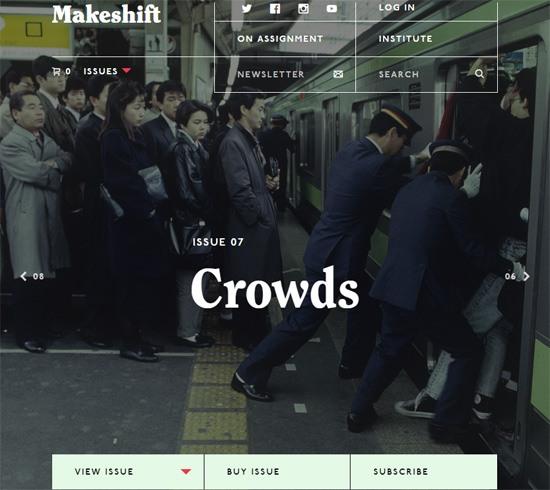 Web typography example: Makeshift