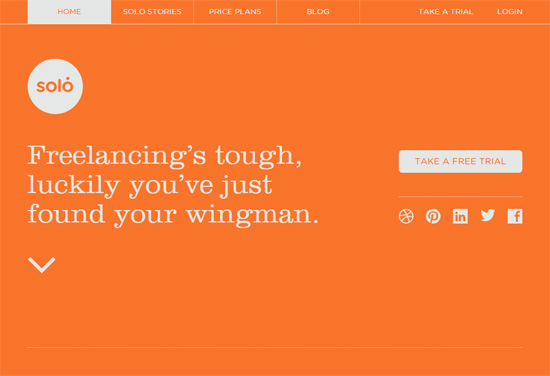 Web typography example: Solo