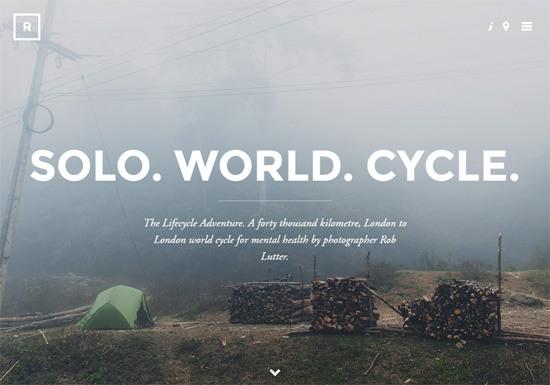Web typography example: The Lifecycle Adventure