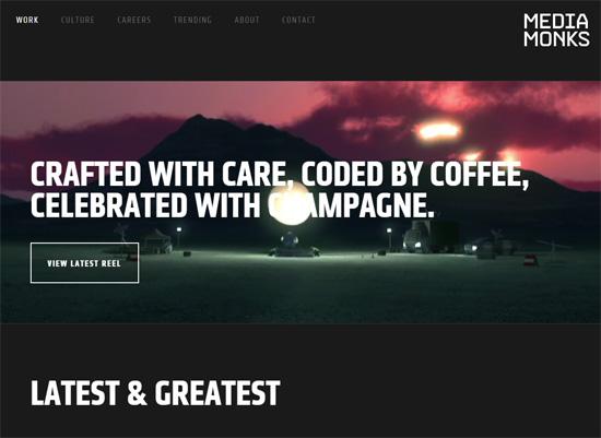 Web typography example: MediaMonks