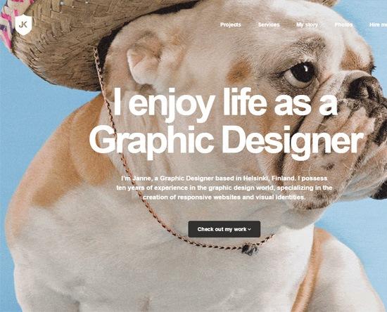 Web typography example: Janne Koivistoinen