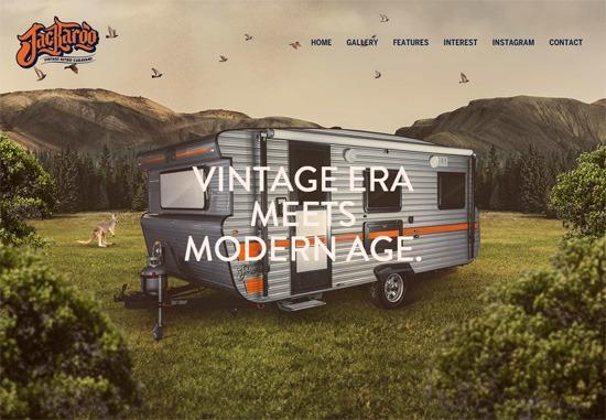 Example of a full-screen background image: Jackaroo Caravans
