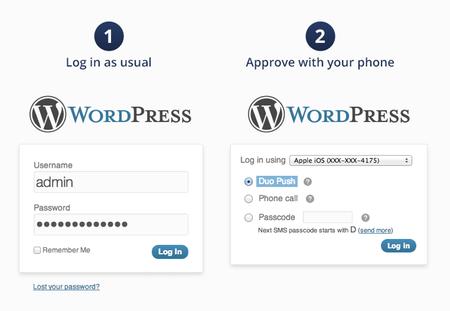 Screenshot of Duo Two-Factor Authentication WordPress plugin