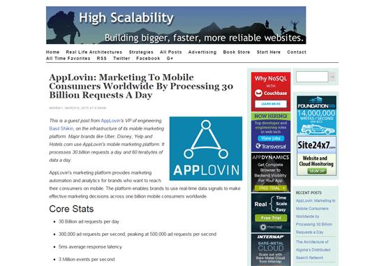 High Scalability blog