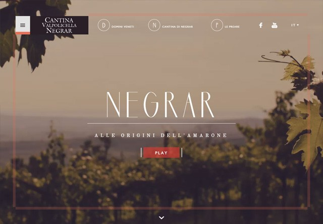 Earth-toned web design: Cantina Valpolicella Negrar
