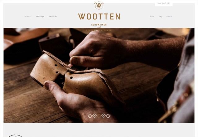 Earth-toned web design: Wootten