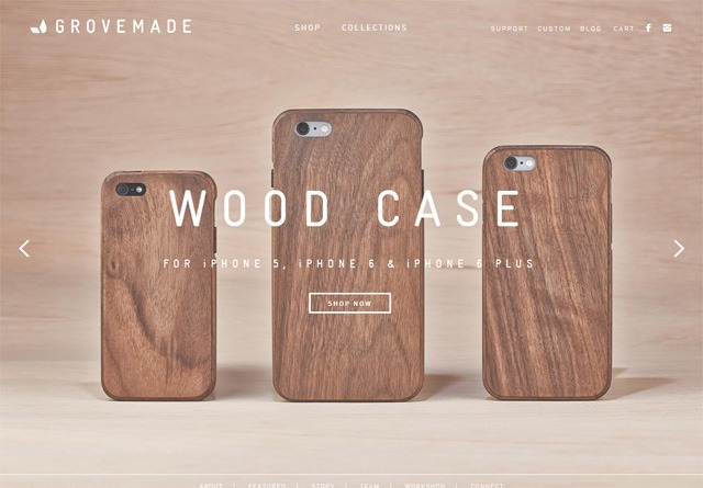 Earth-toned web design: Grovemade