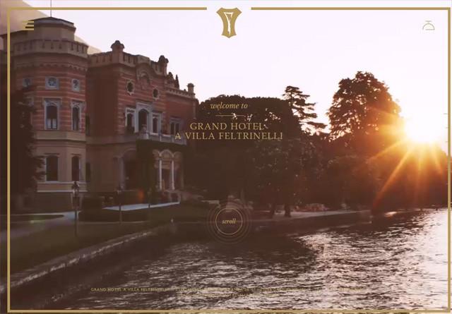Earth-toned web design: Grand Hotel a Villa Feltrinelli