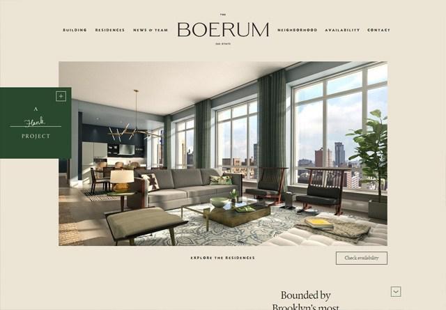 Earth-toned web design: The Boerum