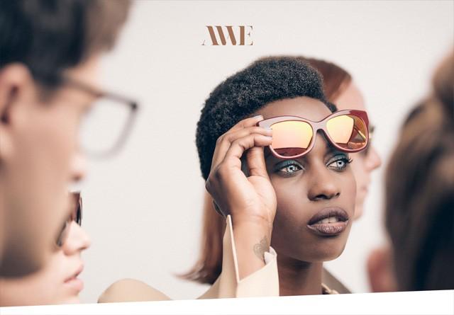 Earth-toned web design: Andy Wolf Eyewear