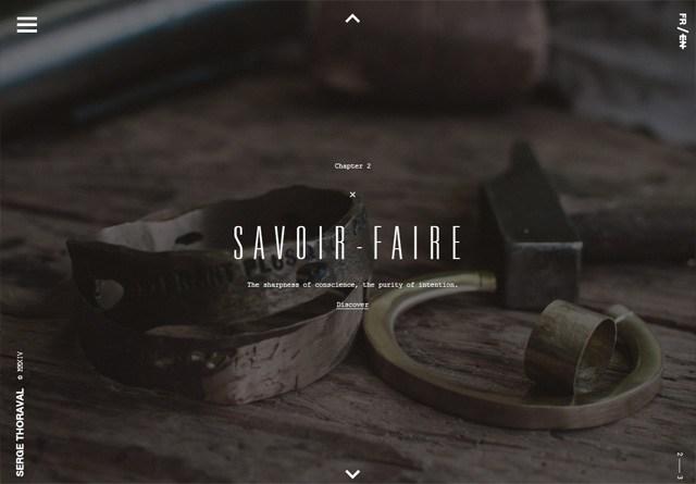 Earth-toned web design: Serge Thoraval