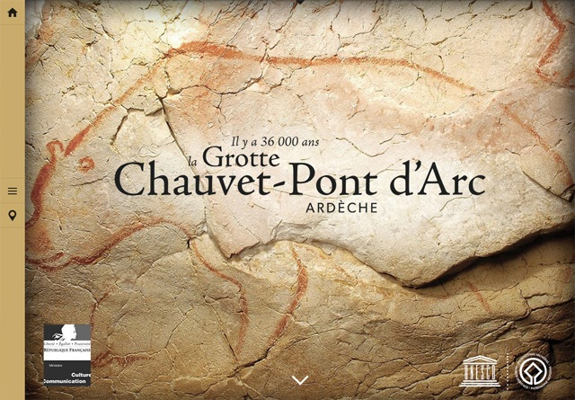 Earth-toned web design: La Grotte Chauvet-Pont d'Arc