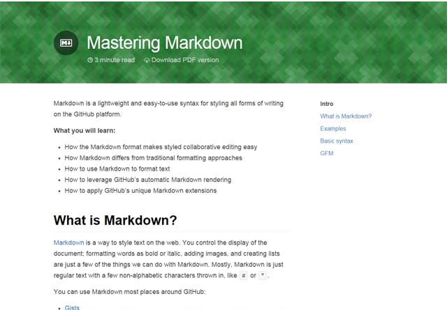 Mastering Markdown