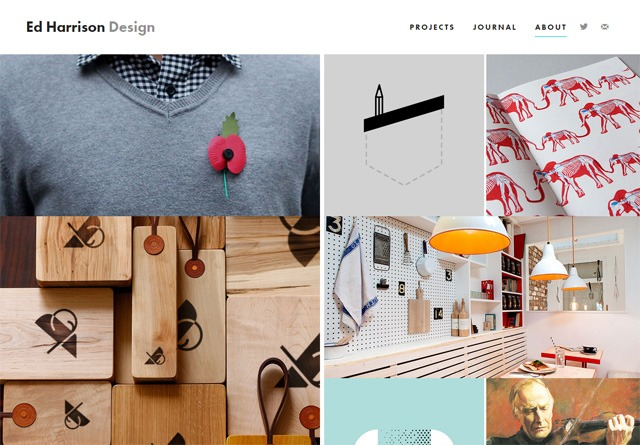 Screenshot of a clean website: Ed Harrison Design