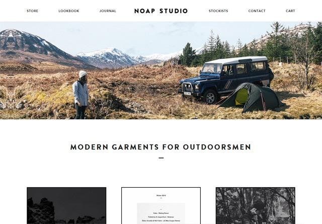 Screenshot of a clean website: Noap Studio