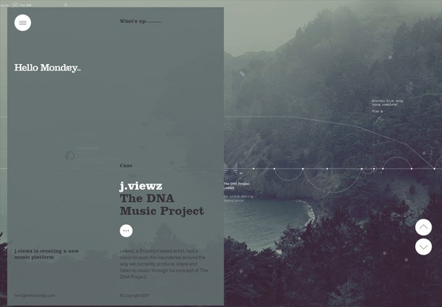 Portfolio website: Hello Monday