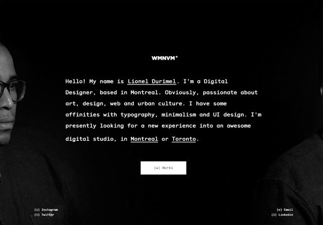 Portfolio website: Lionel Durimel