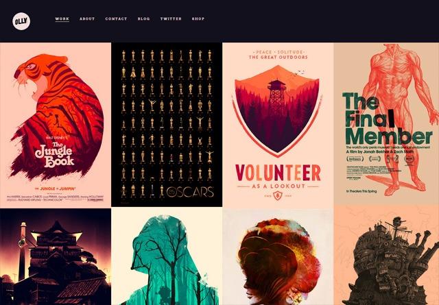 Portfolio website: Olly Moss