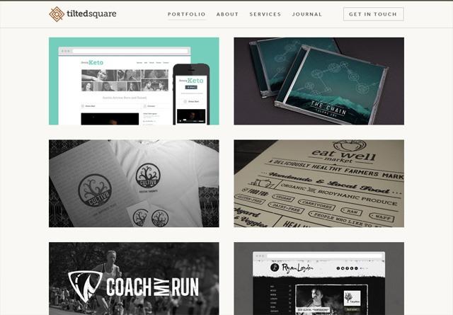 Portfolio website: Tilted Square