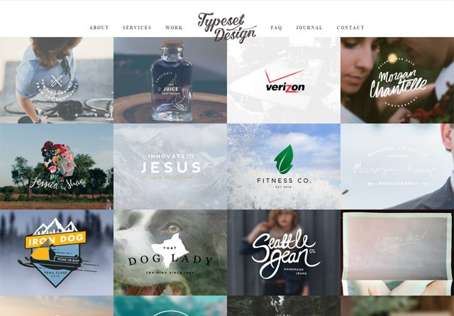 Portfolio website: Typeset Design
