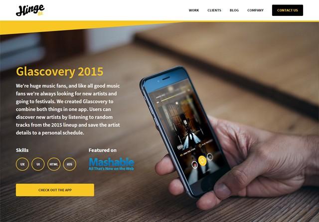 Portfolio website: Hinge Ltd
