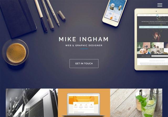 Portfolio website: Mike Ingham Design