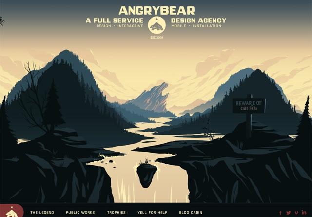 Portfolio website: Angry Bear