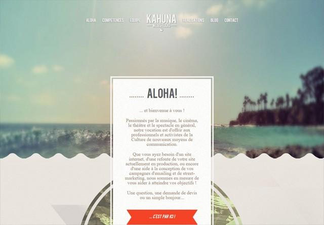 Portfolio website: Kahuna Webstudio