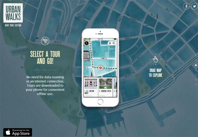 App Website: Urban Walks