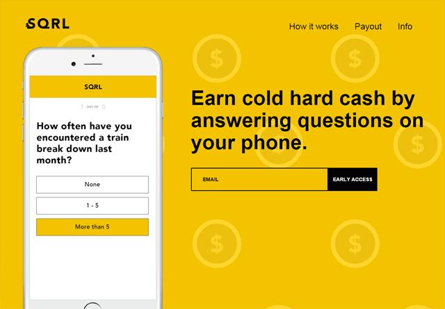 App Website: SQRL