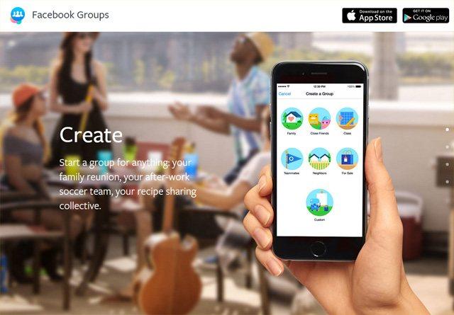 App Website: Facebook Groups