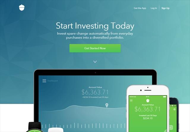 App Website: Acorns