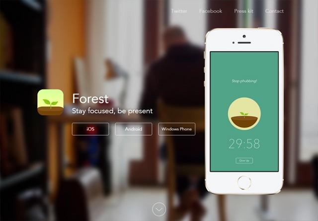 App Website: Forest
