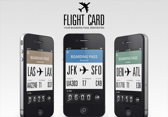 App Website: Flight Card
