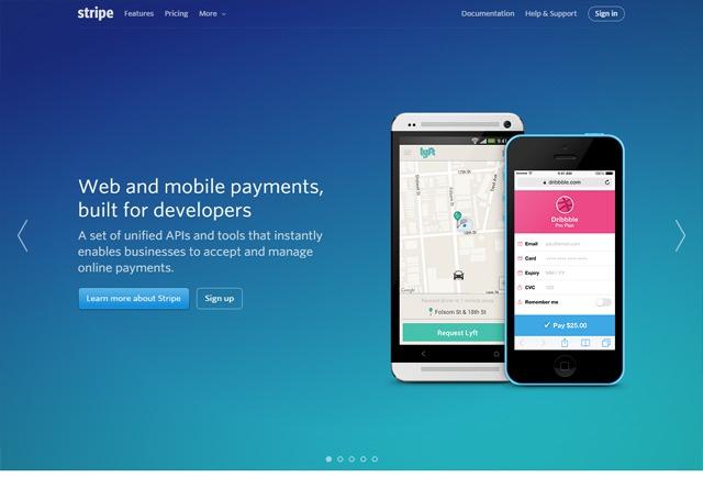 App Website: Stripe