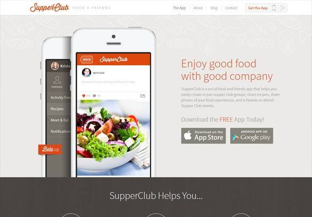 App Website: Supper Club App