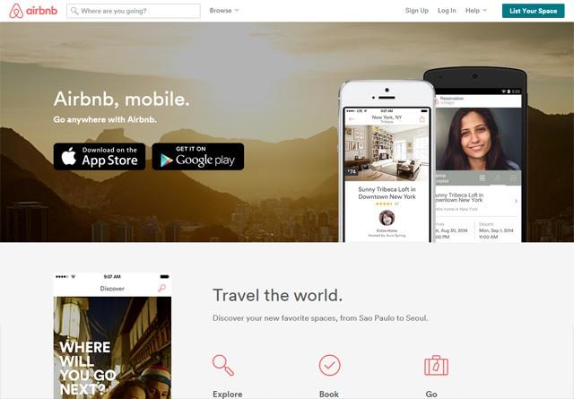 App Website: Airbnb Mobile