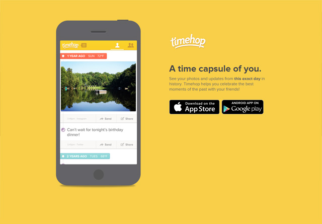 App Website: Timehop