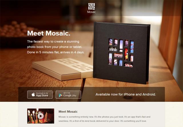 App Website: Mosaic Photo Books