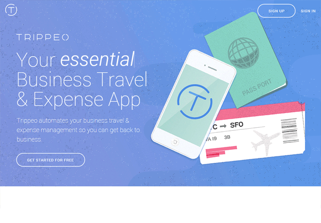 App Website: Trippeo