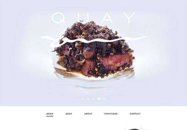 Image of a restaurant website: Quay Restaurant