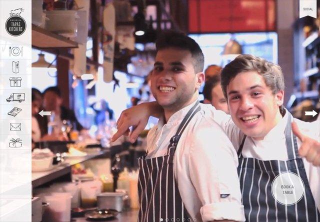 Image of a restaurant website: Brindisa Tapas Kitchens