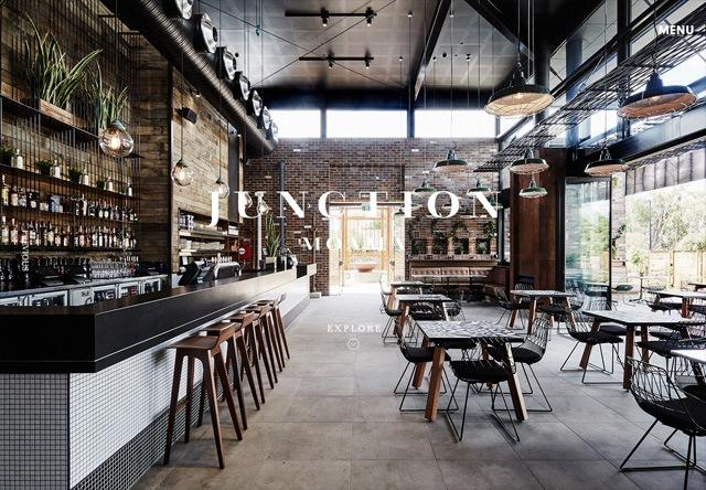 Image of a restaurant website: Junction Moama