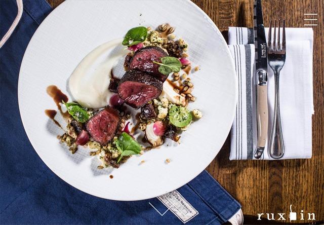 Image of a restaurant website: Ruxbin Chicago