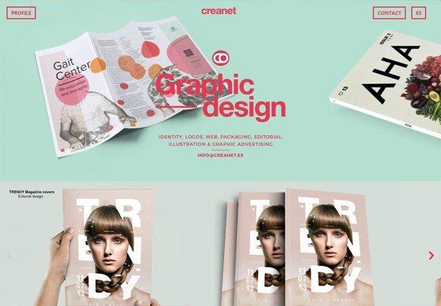 Design agency: creanet