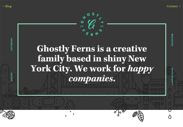 Design agency: Ghostly Ferns