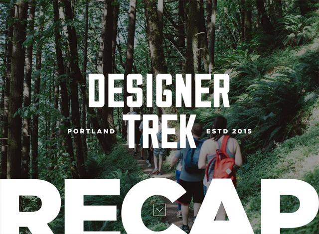 One-page website: Designer Trek